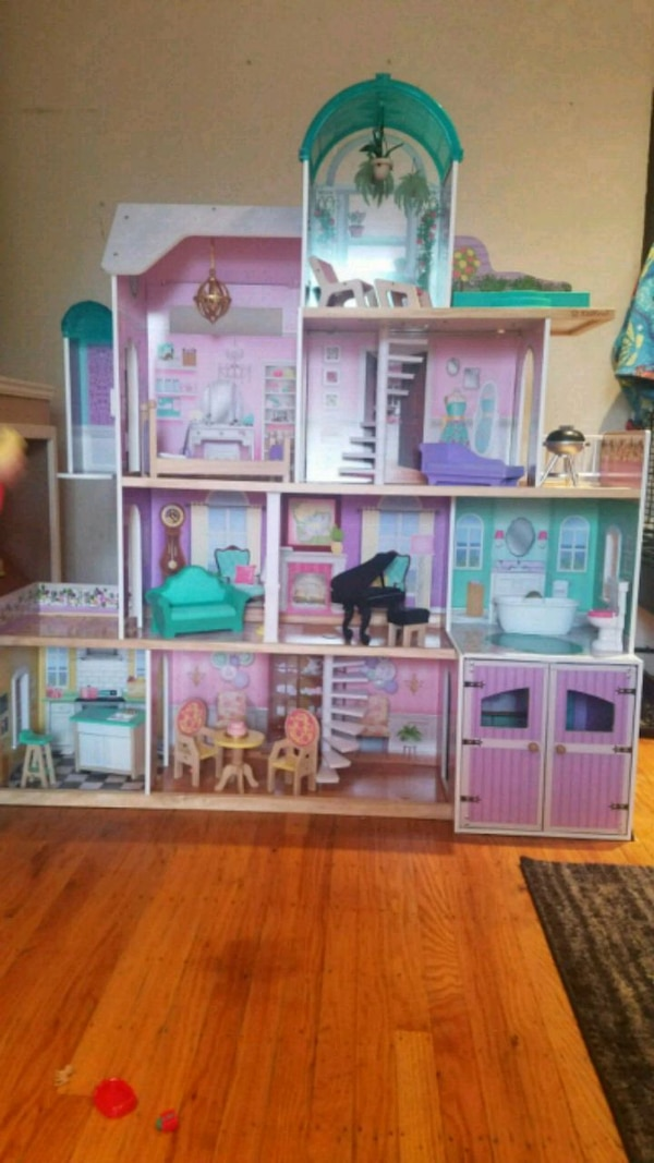 Used Kidkraft Rosewood Mansion Dollhouse For Sale In San