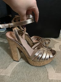 Vince Camuto Gold High Heels