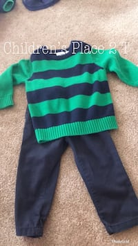 green and blue striped sweater Ranson, 25438