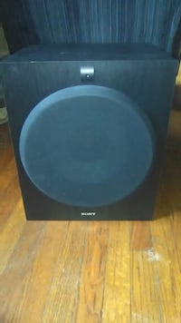 black and gray subwoofer speaker Norfolk, 23502