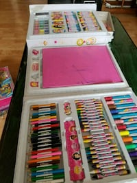 Puzzles and drawing supplies