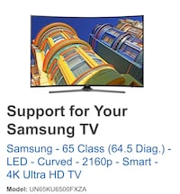 "Samsung 65"" class LED - Curved - 2160p - Smart 4K Ultra HD TV Annandale, 22003"