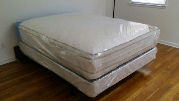 Used Brand New Double Pillow Top Queen Mattress Set For Sale In