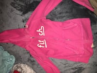 pink Abercrombie & Fitch zip-up pull-over hoodie