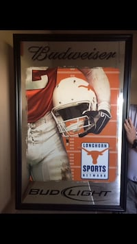 Large Budweiser with UT mirror