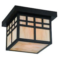 Home Decorators Collection Coleville 1-Light Glendale Bronze Outdoor Flushmount BRAND NEW!! Plantation