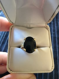 silver-colored with black gemstone ring Arroyo Grande, 93420