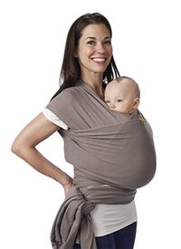 Moby carrier wrap gray baby infant wearing Lake Forest