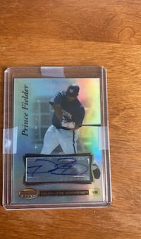 Prince Fielder signed card