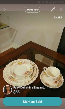 white, red and yellow floral ceramic dinnerware set