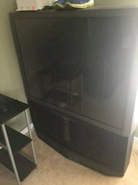 black wooden TV stand with cabinet Centreville, 20121