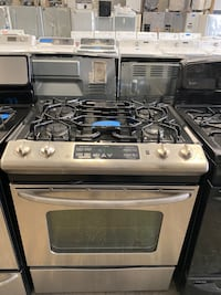GE stainless steel slide gas stove 5 burners