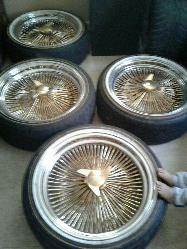Gold Spokes 20 Inch Rims And Tires