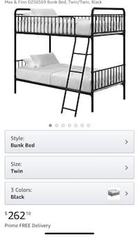 Twin Bunk Bed Charlotte, 28269