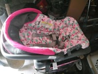 Small baby girl's carseat