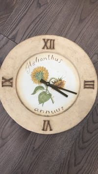 round white and brown analog wall clock Toronto, M6N 2W6