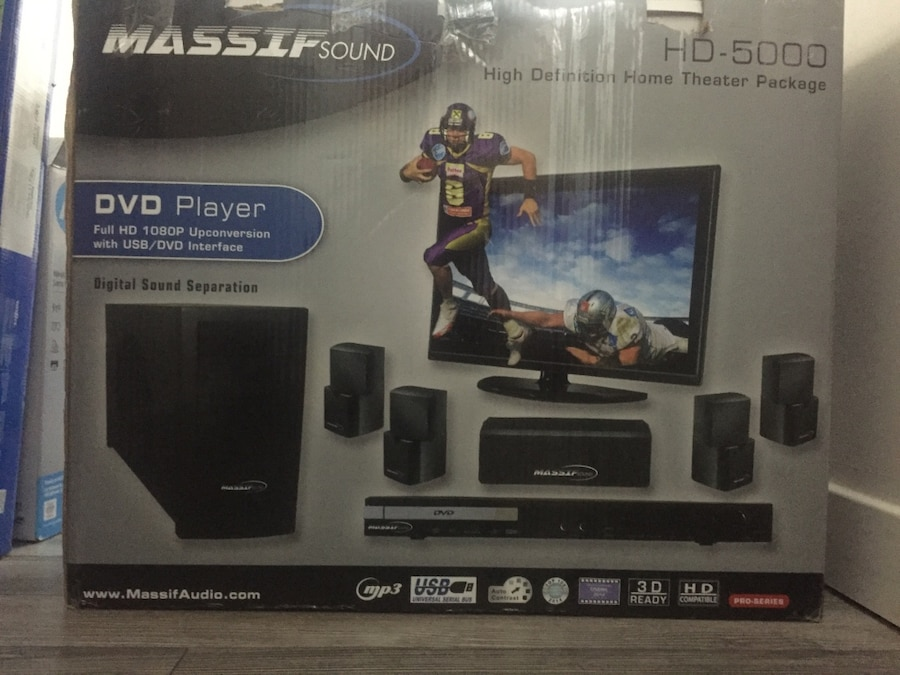 Used massif sound hd 5000 dvd player in edmonton for A 5000 7806