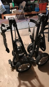 Pair of black golf pull carts like new Taylor, 48180