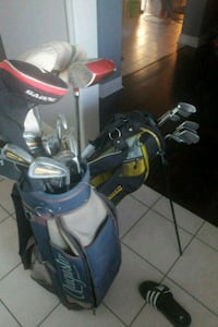 black and red golf bag with golf clubs Durham Regional Municipality, L0B