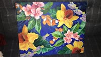 Flower and fish painting