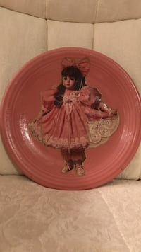 Beautiful! Victorian Girl on Mauve/Pink Porcelain China plate Gainesville, 20155