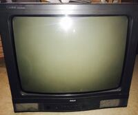 """25"""" RCA crt tv  and 20"""" black Panasonic crt tv with remotes"""