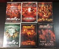 PrideFC fighting championships DVD 6 pc Toronto, M6H 3S4