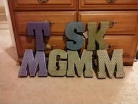 12in metallic letters Cary