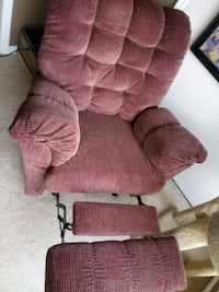 Red Recliner Rocking Chair VIENNA
