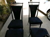 Used diner chairs 4 10 dollars each valor or best  Visalia, 93291
