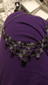 silver and purple beaded necklace Teaneck, 07666