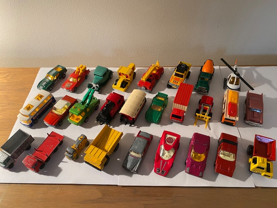 Photo Matchbox toy cars from 1956 to 1981