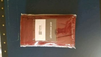 JCPenney Queen Red flannel pillowcase pair -- New!