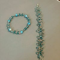 beaded blue and black necklace Cottonwood, 86326