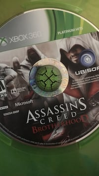 Xbox 360 Assassin's Creed Brotherhood game disc
