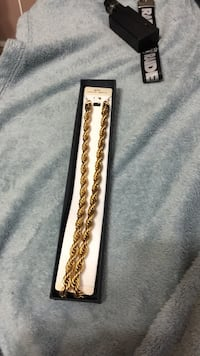 18kt gold plated 9mm chain