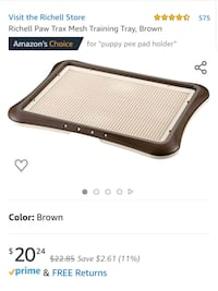 CLEAN Puppy pad holder tray with grate Arlington, 22202