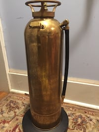 Brass Fire Extinguisher Floor Lamp Elkton, 21921