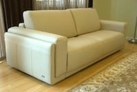 Brand New Beige Leather Couch - Price Negotiable Mount Prospect