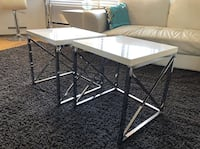 WHITE GLOSSY AND CHROME SIDE / END TABLES Toronto, M6B 3H8
