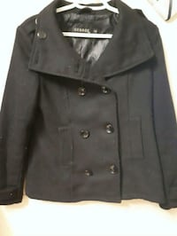 black leather button-up jacket Kamloops