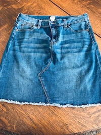 J Crew mini jeans skirt, stretch, sz 12 Silver Spring, 20904