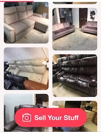 Living room-leather sofas-functional sectionals 265 mi