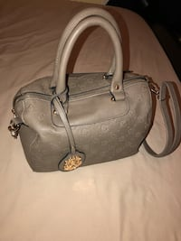 Women's gray leather handbag New York, 11210