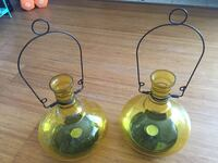 two black and yellow glass candle holders Mount Pleasant, 29464