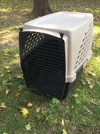 White and black pet carrier Ontario, M9W 7J4