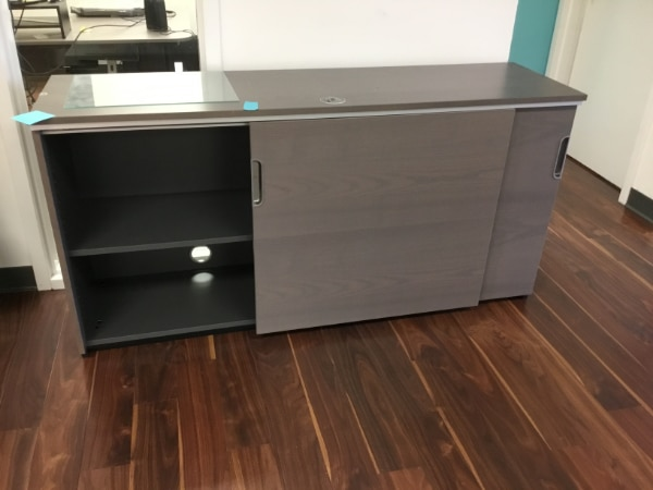 Credenza Unit Ikea : Used ikea galant cabinet credenza w sliding doors for sale in