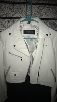 White go out leather jacket  New York, 10452