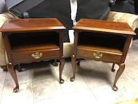 Pair Statton Trutype Americana Side Tables