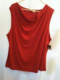 Red blouse new size 1X Woodbridge, 22191